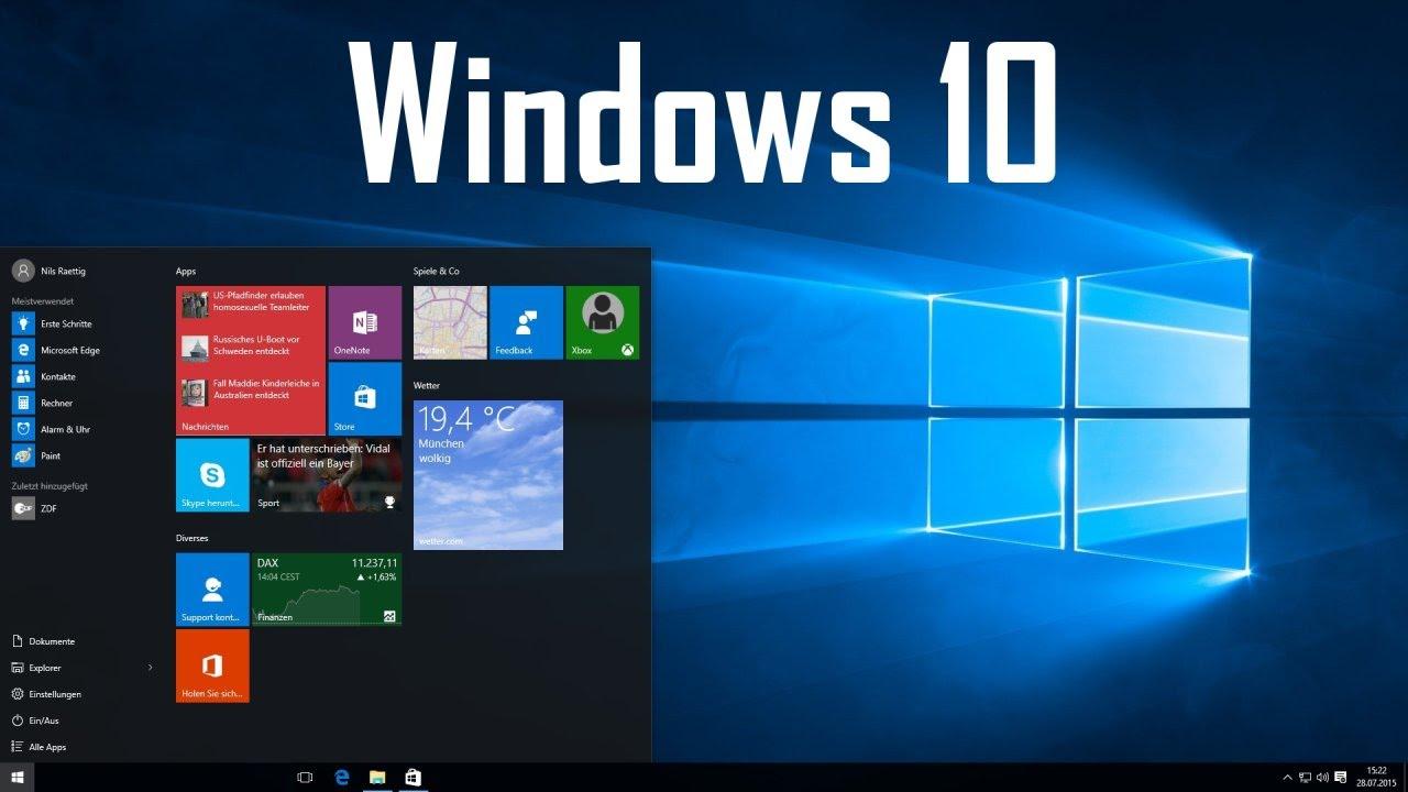 Windows 10 Anfänger